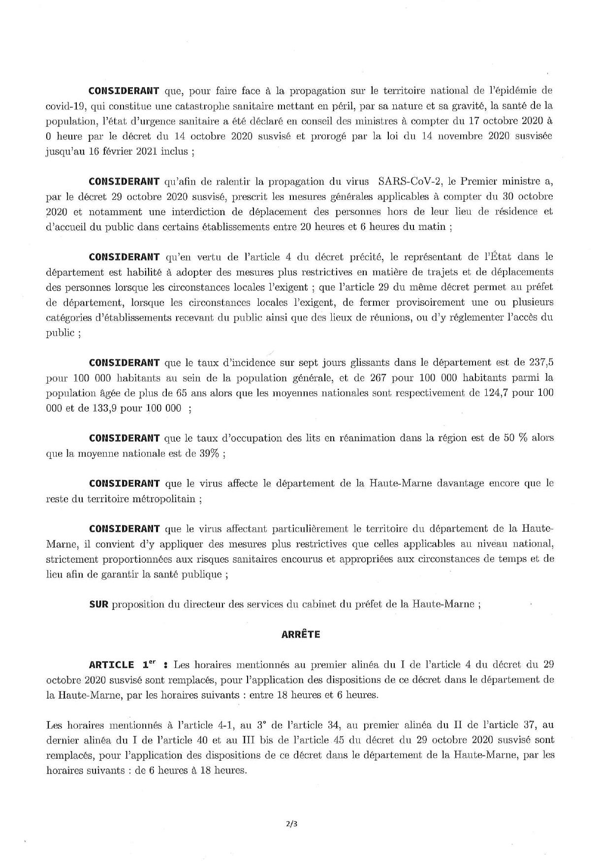Arr_t_ pr_fectoral du 1er janvier 2021 portant couvre-feu – mesures covid19_page-0002