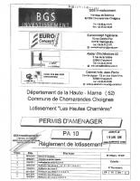 Réglement lotissement Hautes Charrières
