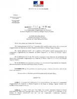Arrêté 2711 portant modification des statuts CA BN et BVF 19 09 2019