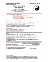 Bulletin Inscription 2019 2020 Qi Gong